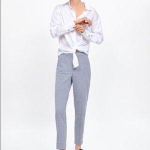 Zara Blue Trouser Ankle Cigarette Pants